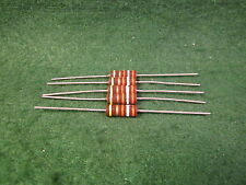 (1) 5 Pack Carbon Comp 39K OHM 1 Watt 5% Resistors NOS