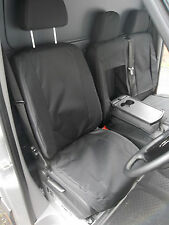 MERCEDES SPRINTER VAN SEAT COVERS - MADE TO MEASURE WATERPROOF BLACK- DRV+ PSS