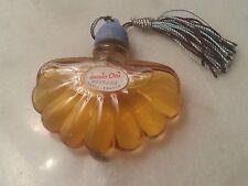 """Miniature ancienne """"MAIS OUI"""" de BOURJOIS, forme éventail, old perfume bottle"""