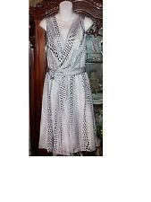 $449 NEW L'AGENCE Black/White V-Neck Dress Size 10