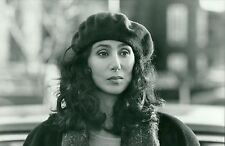 "1987 Vintage Photo Portrait modeling hat actress singer Cher in ""Suspect"" movie"