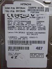 60GB Hitachi HTS721060G9SA00 | P/N: 39T2612 | MLC: DA1373 | 22 SEP 2006  #487