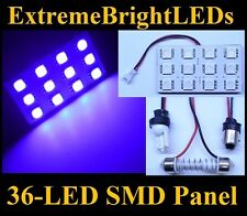 ONE UV Purple 36-LED SMD Panels Map Dome Door Lights Bulbs #64A