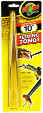 ZOO MED STAINLESS FEEDING TONGS ALL ANIMAL FISH REPTILE SNAKE FREE SHIP TO USA