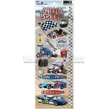 PAPER HOUSE NEED FOR SPEED CAR RACING NASCAR CARDSTOCK SCRAPBOOK STICKERS