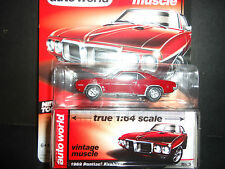 Auto World Pontiac Firebird 1969 Maroon 1/64 Detail Car