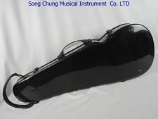 """Strong black fiberglass adjustable 15-17"""" viola case,With two bow's holder"""