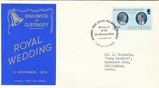 (83903) Guernsey FDC Princess Anne Royal Wedding 14 November 1973