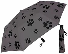 "44"" Puppy Dog Paw Print Auto Mini Umbrella -RainStoppers Rain/Sun UV Fashion"