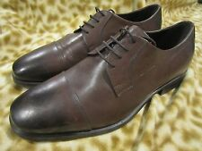 BRUNO MAGLI BROWN OXFORD LACE UP MENS SHOES 10.5 W WIDE NEW!!!