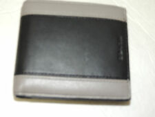 COACH mens wallet HERITAGE SPORT ID COIN wallet slate/black #F74805 NWT