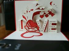 3D Handmade Pop up Valentine's card - a Love Tree Greeting Card - All Occasions