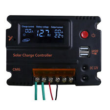LCD Screen Solar Panel Battery Regulator Charge Controller Mppt Pwm Machine NEW