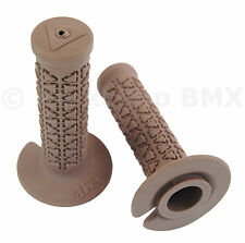 AME old school BMX bicycle grips - MINI MICRO JUNIOR - BROWN *MADE IN USA*