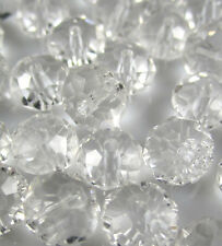 NEW Jewelry Faceted 30pcs Clear #5040 6x8mm Roundelle Crystal Beads DIY WA6