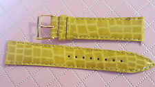 WATCH BAND BRACELET MONTRE CUIR VEAU DOUBLE CUIR VERT 18mm  REF.TS19