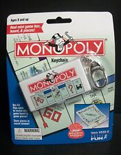NEW/SEALED MONOPOLY GAME MINI BOARDGAME KEYCHAIN HASBRO