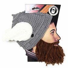 Thor Helmet Snowboard Ski Brown Beard Face Mask With Winter Hat Beanie Wings