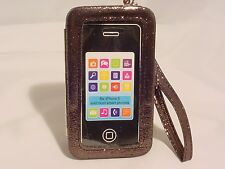 iPhone5 iPhone 5s Cell Phone Case Shiny Black Purse Wallet Wristlet Clutch #16a