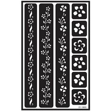 Flower Border Over 'n' Over Glass Etching Stencil - Armour N Reusable Sand Etch