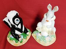 SCHMID VINTAGE DISNEY BAMBI COLLECTION THUMPER & FLOWER BOOKENDS -NOS -RARE!