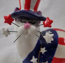 Whimsiclay Yankee Doodle Kitty 86092 Amy Lacombe Missing Whisker