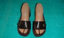 ENZO ANGIOLINI Dark Brown Leather Women's Shoes/Slides~Low Heel~Size 6.5 M~EUC
