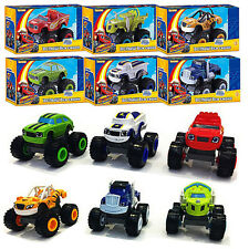 6pcs Blaze and the Monster Machines Vehicles Diecast Racer Cars Trucks Kids Toy