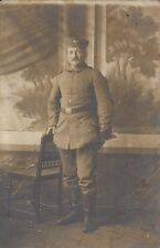 ✚837✚ German Field Postcard Feldpost WW1 SOLDIER BELT CAP UNIFORM BUCKLE