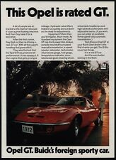 "1972 BUICK OPEL GT Sports Car ""Rated GT"" -  VINTAGE AD"