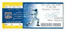 Mike Piazza home run #145, Chan Ho Park win ticket; Giants at Dodgers 7/10/1997