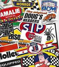 Grab Bag of 11+ Nostalgia Vintage Style Racing Decals STP Doug's Holley Wynn's
