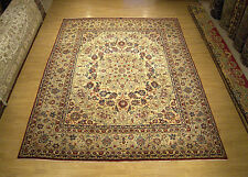 10 x 12 Handmade Hand Knotted Antique Persian Isfahan Wool Rug_Very Fine Quality