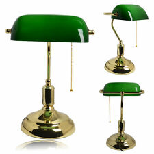 LED Classic Vintage Antique Brass Green Bankers Desk Table Lamp Office Study NEW