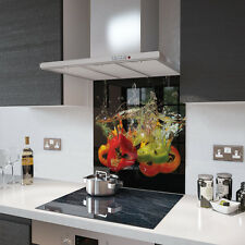 60cm x 75cm Digital Print Glass Splashback - Peppers In Water