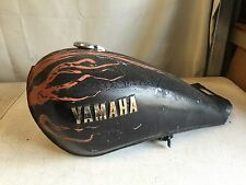 Vintage Yamaha Motorcycle Gas Fuel Tank With Petcock Shutoff