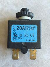 E-T-A BOAT~RV CIRCUIT BREAKER~20 AMP~PUSH RESET~SINGLE POLE~28 VDC~250 VAC