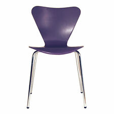 Set of 4 Arne Jacobsen Series 7 Stacking Chairs in Purple