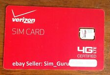 Verizon Prepaid  Nano Sim Card with Free First Month $50 Airtime included •NEW•