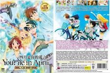 DVD Anime Your Lie In April Complete Series (1-22 End +OVA)