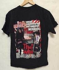 Mens Sz M Vintage The Who 2007 Tour Live In Concert T-Shirt Band Rock 2 Sided