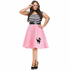 50s Soda Shop Sweetie - Plus-Size Adult Costume Poodle Skirt