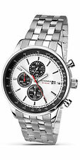 Sekonda Mens Black Dial Chronograph Silver Bracelet Watch 1048 RRP £89.99