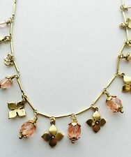 Pilgrim Jewelry Delicate Gold Necklace With Faceted Pink Beads. Price $12