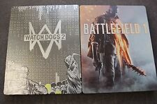 BATTLEFIELD 1 & Watch Dogs 2  Steel Case STEELBOOKS G2  BRAND NEW !!!! RARE