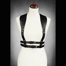 Restyle BLACK UNDERBUST HARNESS WIDE STRAPS BELT GOTHIC ACCESSORY. BONDAGE.