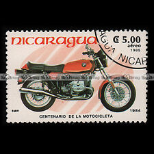 ★ BMW 650 R65 ★ NICARAGUA Timbre Moto / Motorcycle Stamp #230