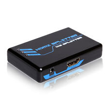 2 Port HDMI Splitter Amplifier Repeater Full HD 1080P 2 Output Dual Display TV