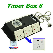 TIMER BOX 6 WITH 6 OUTPUTS 6X600W INDUSTRIAL HYDROPONICS FOR GROW TENT FAN ROOM