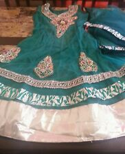 INDIAN DESIGNER BOLLYWOOD STITCHED NET ANARKALI CHURIDHAR SUIT/28 XS for Girl's